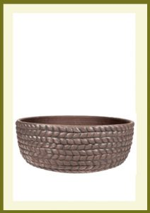 Braided Vine Low Planter - Dark Stone  $54.99
