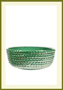 Braided Vine Low Planter - Green  $54.99