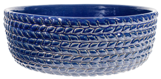 Braided Vine Low Planter - Heaven Blue