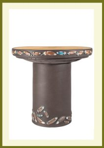 Flight Handpainted Birdbath - Dark Stone  $99.99