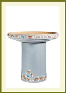 Flight Handpainted Birdbath - Sky Blue  $99.99