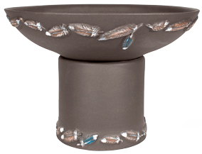 Flight Handpainted Short Planter - Dark Stone