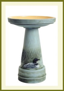 Great Northern Loon Handpainted Birdbath  $139.99