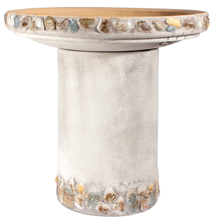Riverstones Handpainted Birdbath - Gray