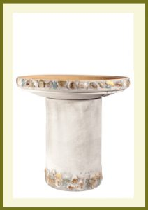 Riverstones Handpainted Birdbath - Gray  $99.99