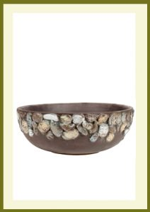 Riverstones Handpainted Low Planter - Dark Stone  $44.99