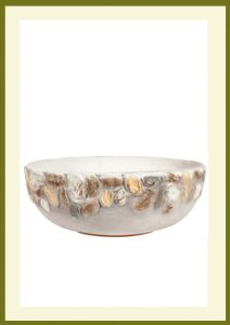 Riverstones Handpainted Low Planter - Gray  $39.99