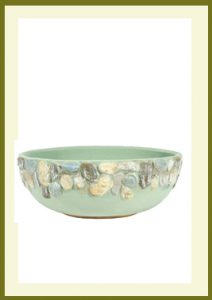 Riverstones Handpainted Low Planter - Sage  $44.99