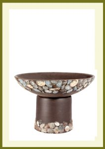 Riverstones Handpainted Short Planter - Dark Stone   $79.99