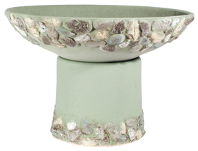 Riverstones Handpainted Short Planter - Sage