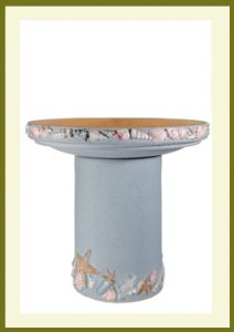 Shore Handpainted Birdbath - Seabreeze Blue  $99.99