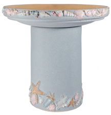 Shore Handpainted Birdbath - Seabreeze Blue