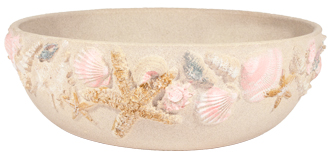 Shore Handpainted Low Planter - Sand