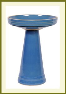 Simple Elegance Birdbath - Bellflower Blue  $119.99