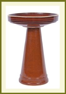 Simple Elegance Birdbath - Golden Umber  $119.99