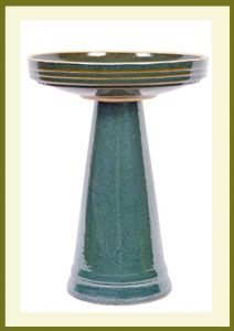 Simple Elegance Birdbath - Green  $119.99