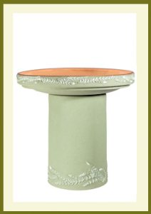 Wreath Handpainted Birdbath - Sage  $99.99