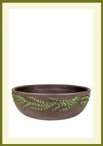 Wreath Handpainted Low Planter - Dark Stone  $39.99