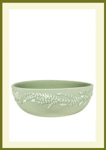 Wreath Handpainted Low Planter - Sage  $44.99
