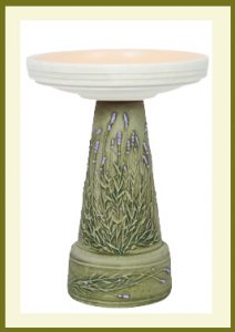 Lavender Pedestal - Hand-Painted Aged Moss  $69.99