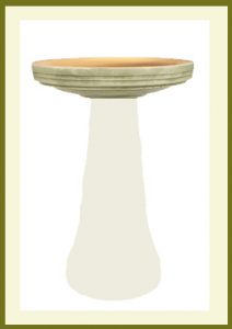 Locking Birdbath Top with Glazed Interior - Aged Moss  $59.99