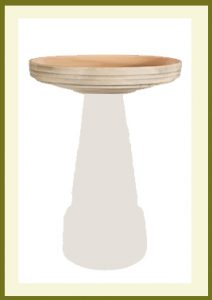 Locking Birdbath Top with Glazed Interior Earthy Aged Moss(WOS)  $59.99