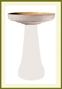 Locking Birdbath Top with Glazed Interior - Gray  $59.99