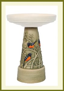 Oriole Pedestal - Hand-Painted  $69.99