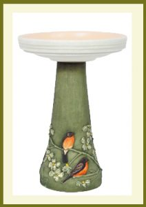 Robin and Dogwood Pedestal - Hand-Painted  $69.99