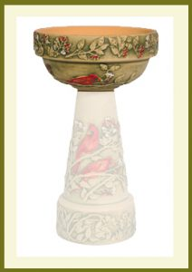 Summer Cardinal Handpainted Planter Bowl  $60.99