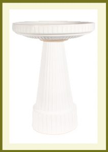 Universal Birdbath - Antique White Glaze-bowl  $54.99