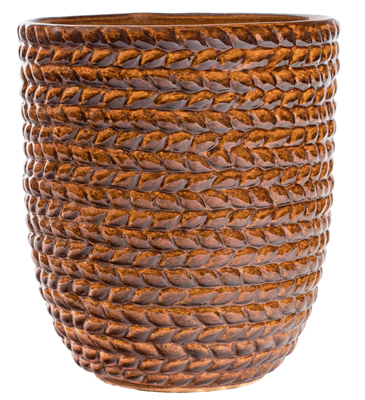 Braided Vine Small Vase - Golden Umber