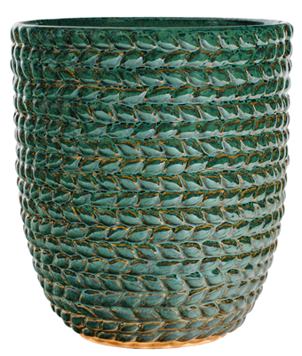 Braided Vine Small Vase - Green