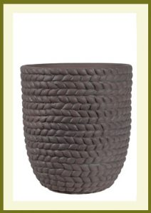 Braided Vine Small Vase Planter - Dark Stone $49.99