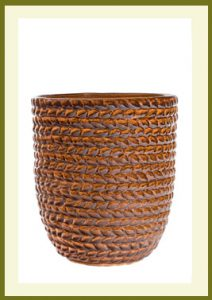Braided Vine Small Vase Planter - Golden Umber Glaze  $49.99