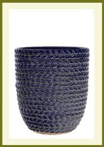 Braided Vine Small Vase Planter - Heaven Blue Glaze  $49.99