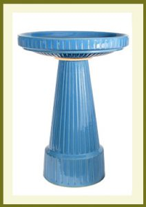 Universal Birdbath Set - Bellflower Blue Glaze  $109.99