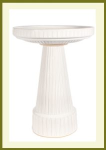 Universal Birdbath Set - Antique White Glaze $99.99