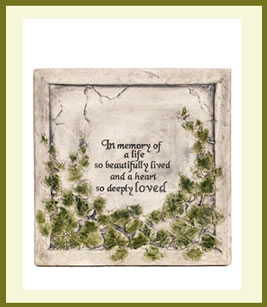 In Memory Of A Life Plaque $49.99