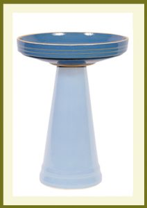 Simple Elegance Birdbath - Bellflower Blue-Bowl $59.99