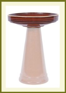 Simple Elegance Birdbath - Golden Umber-Bowl $59.99