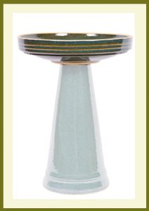 Simple Elegance Birdbath - Green-Bowl  $59.99