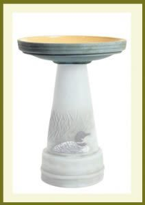 Great-Northern-Loon-Handpainted-Birdbath-Bowl $59.99