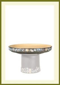 Riverstones Short Birdbath - Darkstone Bowl $54.99