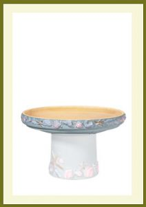 Shore Short Birdbath - Seabreeze Blue Bowl $54.99