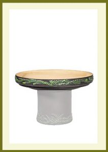 Wreath Short Birdbath - Darkstone Bowl $54.99