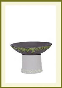 Wreath Short Planter - Darkstone Bowl $44.99