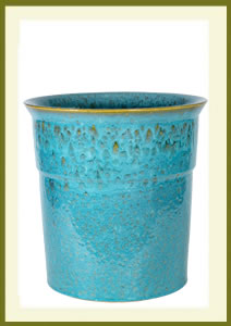 3 Gallon Drop-In Planter - Mosaic Turquoise $49.99