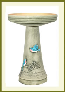 Bluebird Birdbath Set - Hand-Painted $139.99