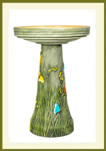 Butterfly Birdbath Set - Hand-Painted $139.99